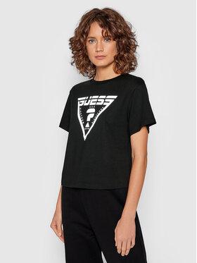 Guess Guess T-shirt Caren O1BA70 JR06Z Crna Relaxed Fit