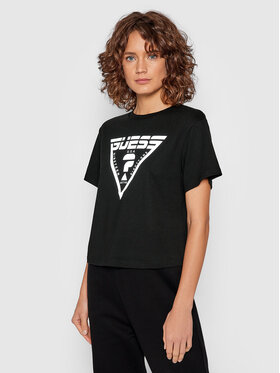 Guess Guess T-Shirt Caren O1BA70 JR06Z Czarny Relaxed Fit