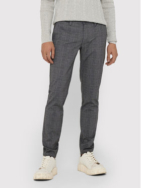 Only & Sons ONLY & SONS Текстилни панталони Mark 22018649 Сив Regular Fit