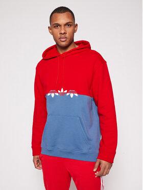 adidas adidas Džemperis adicolor Sliced Trefoil GN3443 Raudona Regular Fit