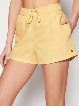 Roxy Roxy Stoffshorts Love Square ERJNS03249 Gelb Regular Fit