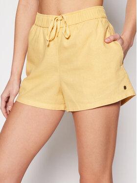 Roxy Roxy Szorty materiałowe Love Square ERJNS03249 Żółty Regular Fit
