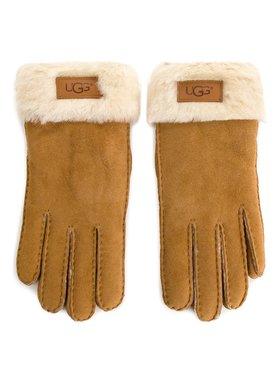 Ugg Ugg Dámske rukavice W Turn Cuff Glove 17369 Hnedá