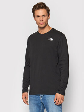 The North Face The North Face Longsleeve Red Box NF0A493L3C01 Czarny Regular Fit