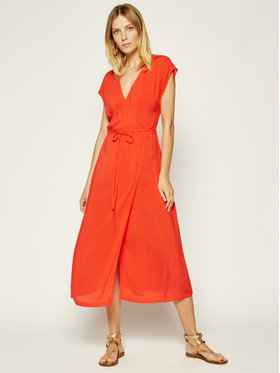 Calvin Klein Swimwear Calvin Klein Swimwear Плажна рокля Wrap KW0KW01069 Червен Regular Fit