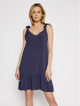 Roxy Roxy Sommerkleid Lazy Holy ERJWD03526 Dunkelblau Regular Fit