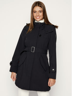 Woolrich Woolrich Cappotto di transizione W'S Belted Fayette WWOU0201FR UT0102 Nero Regular Fit