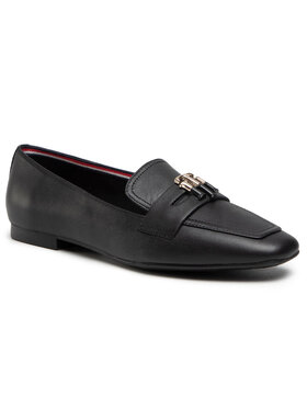 Tommy Hilfiger Tommy Hilfiger Lords Essential Leather Loafer FW0FW05684 Fekete