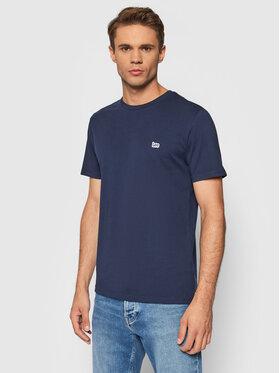 Lee Lee T-Shirt Patch Logo L60UFQ35 Granatowy Regular Fit