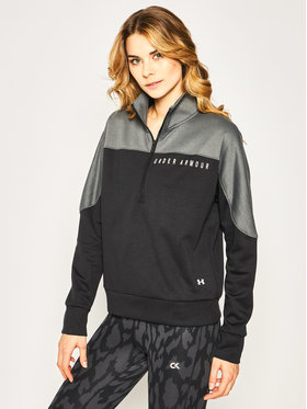 Under Armour Under Armour Pulóver Ua Recover Knit ½ Zip 1351898 Fekete Loose Fit