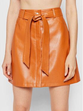 NA-KD NA-KD Suknja od imitacije kože 1018-007273-0261-581 Smeđa Regular Fit
