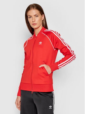 adidas adidas Bluza Primeblue Sst Track H18189 Czerwony Regular Fit
