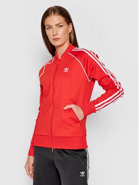 adidas adidas Mikina Primeblue Sst Track H18189 Červená Regular Fit