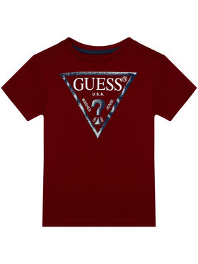Guess Guess Marškinėliai L73I55 K5M20 Bordinė Regular Fit