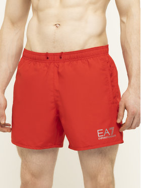 EA7 Emporio Armani EA7 Emporio Armani Plavecké šortky 902000 CC721 00074 Červená Regular Fit
