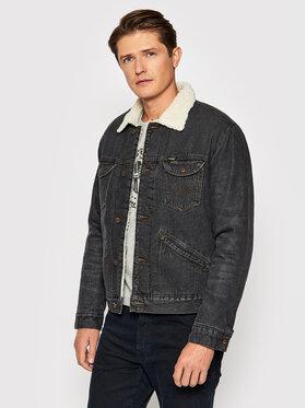 Wrangler Wrangler Giacca di jeans 124MJ Sherpa W4MSV2339 Nero Regular Fit