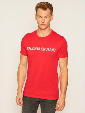 Calvin Klein Jeans Calvin Klein Jeans Tričko Institutional J30J307856 Červená Slim Fit