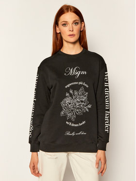 MSGM MSGM Majica dugih rukava 2941MDM99 207799 Crna Regular Fit