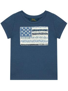Polo Ralph Lauren Polo Ralph Lauren T-Shirt Ss Flag Tee 311785446002 Dunkelblau Regular Fit