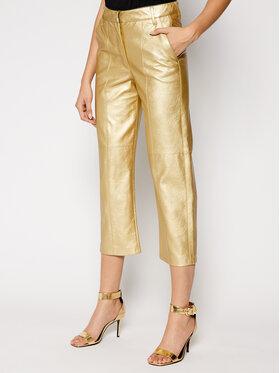 Pinko Pinko Kožené nohavice UNIQUENESS Busoni PE21 UNQS 1Q1088 Y6VG Zlatá Regular Fit