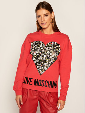 LOVE MOSCHINO LOVE MOSCHINO Felpa W640401M 4055 Rosso Regular Fit
