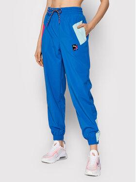Puma Puma Teplákové kalhoty Internetional 589840 Modrá Loose Fit
