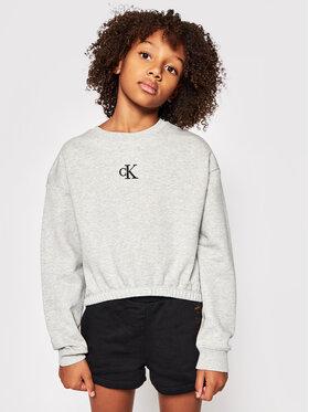 Calvin Klein Jeans Calvin Klein Jeans Суитшърт Logo IG0IG00934 Сив Boxy Fit
