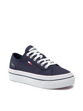 Tommy Jeans Tommy Jeans Sneakers aus Stoff Flatform Vulc EN0EN01423 Dunkelblau