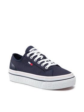 Tommy Jeans Tommy Jeans Teniși Flatform Vulc EN0EN01423 Bleumarin