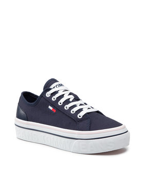 Tommy Jeans Tommy Jeans Tenisky Flatform Vulc EN0EN01423 Tmavomodrá