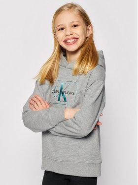 Calvin Klein Jeans Calvin Klein Jeans Sweatshirt Box Monogram Lurex IG0IG00832 Grau Relaxed Fit