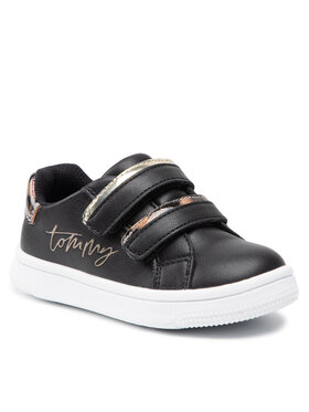 Tommy Hilfiger Tommy Hilfiger Sneakersy Low Cut Velcro Sneaker T1A4-31156-1242 M Czarny