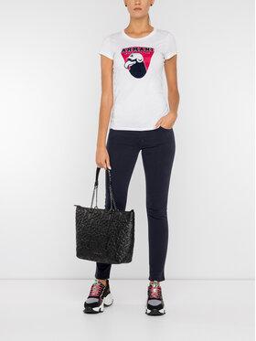 Armani Exchange Armani Exchange T-Shirt 6GYTAH YJ16Z 1000 Biały Slim Fit