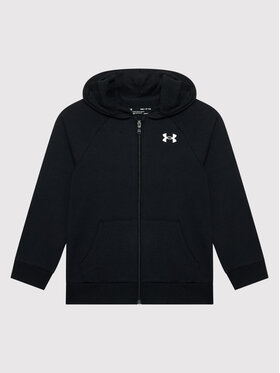 Under Armour Under Armour Pulóver Ua Rival Cotton Full Zip 1357613 Fekete Loose Fit