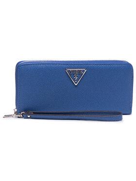 Guess Guess Veľká dámska peňaženka Sandrine (Vg) Slg SWVG79 65460 Modrá
