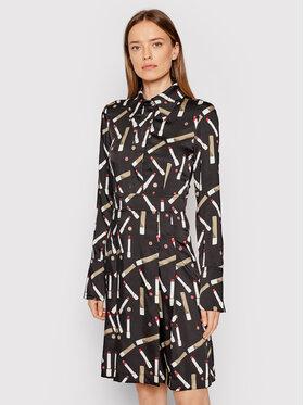 Victoria Victoria Beckham Victoria Victoria Beckham Sukienka koszulowa Printed Poly Twill 2321WDR002989A Czarny Regular Fit