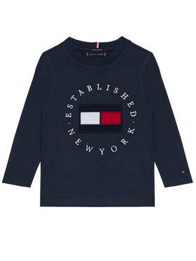 TOMMY HILFIGER TOMMY HILFIGER Bluzka Heritage Logo KB0KB06102 D Granatowy Regular Fit