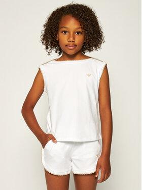 Emporio Armani Emporio Armani Komplektas: marškinėliai ir šortai 3H3V07 1J46Z 0100 Balta Regular Fit
