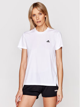 adidas adidas Techniniai marškinėliai Designed 2 Move 3-Stripes GL3812 Balta Regular Fit