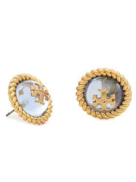 Tory Burch Tory Burch Обици Kira Glass Stud Earring 70571 Златист