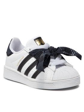 adidas adidas Topánky Superstar El I Q47380 Biela