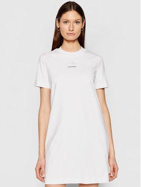Calvin Klein Jeans Calvin Klein Jeans Každodenní šaty J20J215654 Bílá Regular Fit