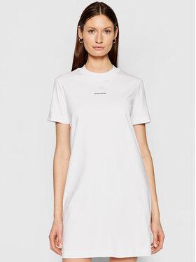 Calvin Klein Jeans Calvin Klein Jeans Sukienka codzienna J20J215654 Biały Regular Fit