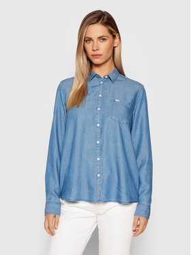 Lee Lee Chemise One Pocket L45TX Bleu Relaxed Fit