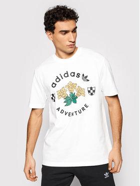 adidas adidas T-shirt Adv Flowers Tee GN2371 Blanc Regular Fit