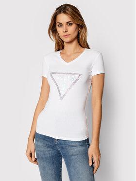Guess Guess Marškinėliai Freda Tee W0BI63 J1300 Balta Slim Fit
