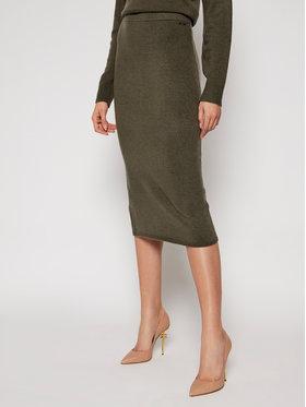 Guess Guess Pouzdrová sukně Kaia W0RR38 R2QA0 Zelená Slim Fit