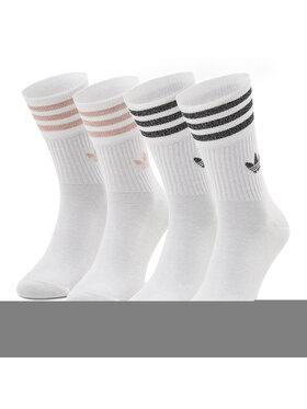 adidas adidas Súprava 2 párov vysokých ponožiek unisex Mid Cut Glt Sck GN3070 Biela