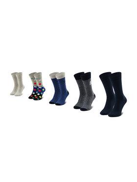 Jack&Jones Jack&Jones Lot de 5 paires de chaussettes hautes unisexe Jacblueish Sock 5 Pack 12185899 OS Multicolore