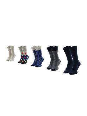 Jack&Jones Jack&Jones Zestaw 5 par wysokich skarpet unisex Jacblueish Sock 5 Pack 12185899 OS Kolorowy
